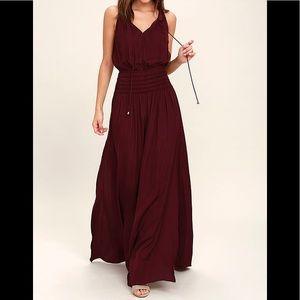 Lulu's Burgundy Maxi Dress